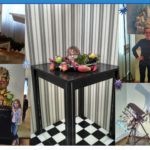 Первого апреля дети из объединений  «Домисолька» и «Акварелька» посетили выставочный проект «Мир наизнанку».